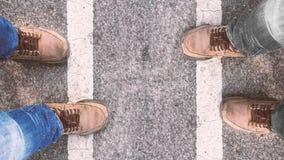 οδική στάση ατόμων Στοκ Φωτογραφίες