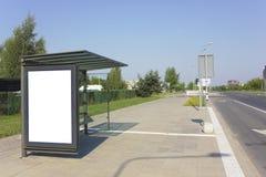 Οδική στάση λεωφορείου πόλεων Στοκ Εικόνες
