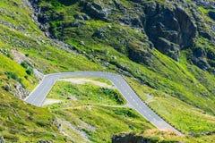 Οδική στροφή στα βουνά Στοκ Εικόνα