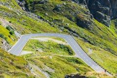 Οδική στροφή στα βουνά Στοκ Εικόνες