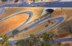 Οδική υποδομή στη Μπραζίλια, η πρωτεύουσα της Βραζιλίας. στοκ εικόνα με δικαίωμα ελεύθερης χρήσης