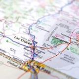 Οδικός άτλαντας του Νέου Μεξικό Las Cruces Στοκ Φωτογραφία