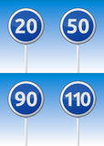 Οδικός πίνακας κυκλοφορίας ταχύτητας Στοκ φωτογραφίες με δικαίωμα ελεύθερης χρήσης