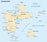 Οδικός χάρτης της Γουαδελούπης απεικόνιση αποθεμάτων