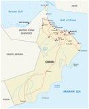 Οδικός χάρτης του Ομάν διανυσματική απεικόνιση