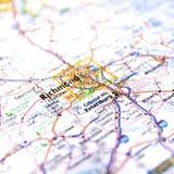 Οδικός χάρτης του Ρίτσμοντ Βιρτζίνια Στοκ Φωτογραφία