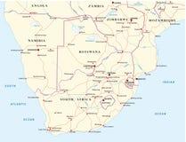 Οδικός χάρτης των καταστάσεων του Νοτίου Αφρική Στοκ εικόνα με δικαίωμα ελεύθερης χρήσης