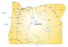 Οδικός χάρτης Όρεγκον ελεύθερη απεικόνιση δικαιώματος
