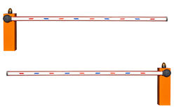 Οδικό εμπόδιο σε ένα άσπρο υπόβαθρο Στοκ εικόνα με δικαίωμα ελεύθερης χρήσης