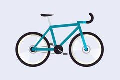Οδικό ποδήλατο απλός επίπεδος Υλικό σχέδιο απομονωμένος Διανυσματικό illus Απεικόνιση αποθεμάτων