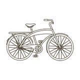 Οδικό ποδήλατο για το περπάτημα με ένα ημικυκλικό πλαίσιο Διαφορετικό ενιαίο εικονίδιο ποδηλάτων στο διανυσματικό απόθεμα συμβόλω ελεύθερη απεικόνιση δικαιώματος