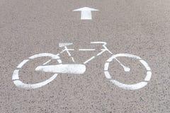 Οδικό σημάδι για την πάροδο ποδηλάτων Στοκ Φωτογραφία