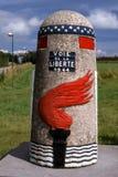 Οδικό σημάδι ελευθερίας στις Αρδέννες, Βέλγιο στοκ φωτογραφίες
