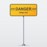 Οδικό σημάδι κινδύνου. Διανυσματική απεικόνιση Στοκ εικόνες με δικαίωμα ελεύθερης χρήσης