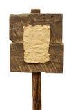 Οδικό σημάδι με το παλαιό φύλλο του εγγράφου που απομονώνεται Στοκ Φωτογραφίες