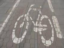 Οδικό σημάδι ποδηλάτων Στοκ Εικόνες