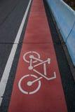 Οδικό σημάδι: Τρόπος ποδηλάτων Στοκ Εικόνα