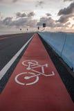 Οδικό σημάδι: Τρόπος ποδηλάτων Στοκ εικόνα με δικαίωμα ελεύθερης χρήσης