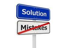 Οδικό σημάδι λύσης Στοκ εικόνες με δικαίωμα ελεύθερης χρήσης