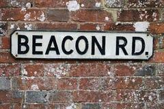 Οδικό σημάδι Brecon Rd Στοκ Φωτογραφία