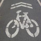 Οδικό σημάδι Bycicle στοκ φωτογραφία με δικαίωμα ελεύθερης χρήσης