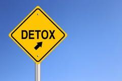 Οδικό σημάδι Detox Στοκ Εικόνες