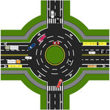 Οδικό infographics Οδική ανταλλαγή, διασταυρώσεις κυκλικής κυκλοφορίας Παρουσιάζει τη μετακίνηση των αυτοκινήτων Στοκ Φωτογραφίες