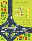Οδικό infographics Στοκ εικόνα με δικαίωμα ελεύθερης χρήσης