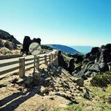 οδικό serra της Πορτογαλίας βουνών estrela DA Στοκ φωτογραφία με δικαίωμα ελεύθερης χρήσης