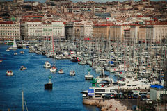 Ο λιμένας της άποψης της Μασσαλίας Στοκ εικόνα με δικαίωμα ελεύθερης χρήσης