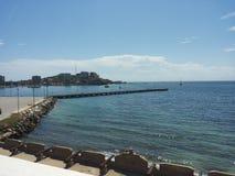 Ο λιμένας της θάλασσας στο νησί Στοκ φωτογραφία με δικαίωμα ελεύθερης χρήσης