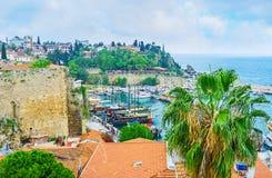 Ο λιμένας τουριστών Antalya Στοκ εικόνα με δικαίωμα ελεύθερης χρήσης