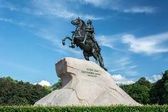 Ο ιππέας χαλκού, Αγία Πετρούπολη Στοκ Εικόνες