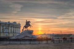 Ο ιππέας χαλκού, Αγία Πετρούπολη Στοκ εικόνες με δικαίωμα ελεύθερης χρήσης