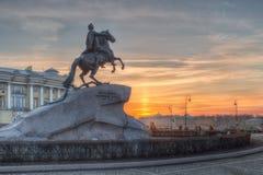 Ο ιππέας χαλκού, Αγία Πετρούπολη Στοκ Φωτογραφία