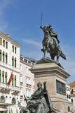 Ο ιππικός Victor Emmanuel ΙΙ μνημείο στη Βενετία, Ιταλία Στοκ εικόνες με δικαίωμα ελεύθερης χρήσης