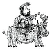 Ο ιππότης με την μπύρα (διάνυσμα) Στοκ Φωτογραφία