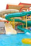 Ολισθαίνοντες ρυθμιστές Aquapark Στοκ Φωτογραφίες