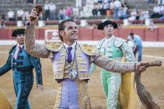 Ο ισπανικός ταυρομάχος Δαβίδ Valiente στη στροφή της τιμής Στοκ φωτογραφία με δικαίωμα ελεύθερης χρήσης