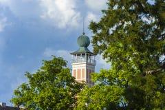 Ο ιστορικός πύργος αιθουσών πόλεων σε Freudenstadt Στοκ Εικόνες