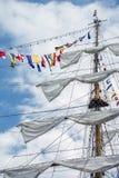 Ο ιστός του σκάφους με τις σημαίες στοκ φωτογραφία με δικαίωμα ελεύθερης χρήσης