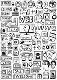 Ο Ιστός doodles έθεσε Στοκ Εικόνες