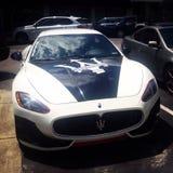 Ο ιταλικοί Μαύρος & λευκό αθλητικών αυτοκινήτων Maserati Στοκ Εικόνα