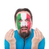 Ο ιταλικός ανεμιστήρας είναι απογοητευμένος και δυστυχώς Στοκ Εικόνες
