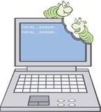 Ο ιός έσπασε τον υπολογιστή ελεύθερη απεικόνιση δικαιώματος