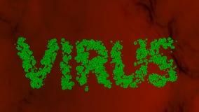 Ο ιός λέξης που αποτελείται από τους ιούς Στοκ εικόνα με δικαίωμα ελεύθερης χρήσης