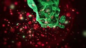 Ο ιός μολύνει τα κόκκινα κύτταρα αίματος απόθεμα βίντεο