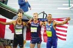 Ο κάτοχος μετάλλιο decathlon σε Rio2016 Στοκ Φωτογραφίες