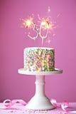 30ο κέικ γενεθλίων Στοκ Εικόνες