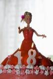 18ο κέικ γενεθλίων Στοκ φωτογραφίες με δικαίωμα ελεύθερης χρήσης